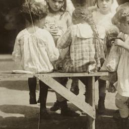 Girls around Bench
