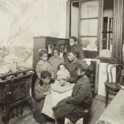 Woman with Six Children