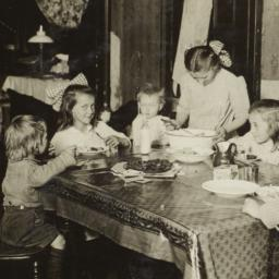 Children Eating around Table