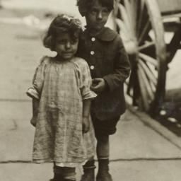 Boy and Girl near Carriage