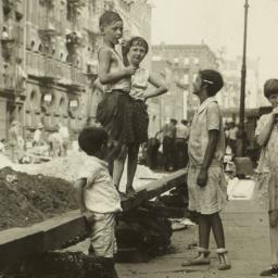 Children on Sidewalk near M...