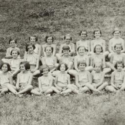 Girls Seated on Hill