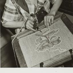 Woman Making Rug