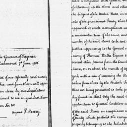 Document, 1786 June 07