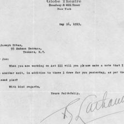 1 letter, 16 May 1919