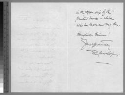 1 hand-written note, 6 March 1916, p. 2