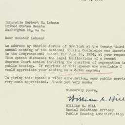 Letter: 1954 July 6