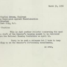 Letter : 1956 March 30