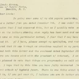 Letter: 1909 February 17