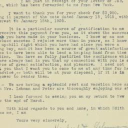 Letter: 1920 February 4