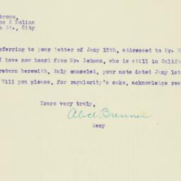 Letter : 1920 February 17