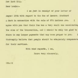 Letter: 1925 August 19