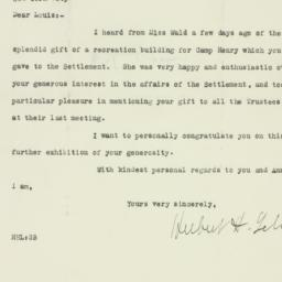 Letter: 1925 October 13