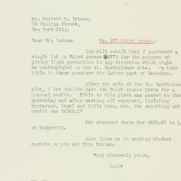 Letter: 1926 March 4