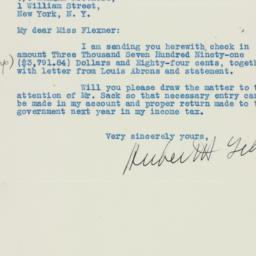 Letter: 1936 June 1