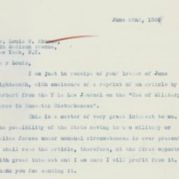 Letter: 1936 June 22