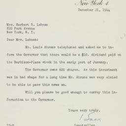 Letter: 1944 December 21
