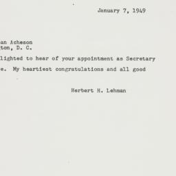 Letter: 1949 January 7