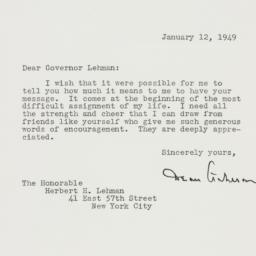 Letter: 1949 January 12