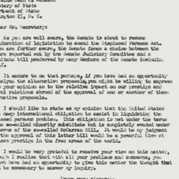 Letter: 1950 March 27
