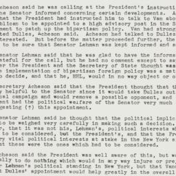 Memorandum: 1950 April 6
