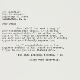 Letter: 1951 September 22