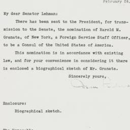 Letter: 1950 February 24