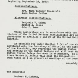 Letter: 1950 August 24