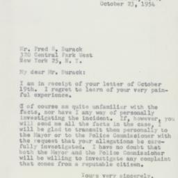 Letter : 1954 October 23