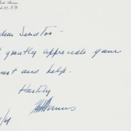 Letter: 1961 January 24
