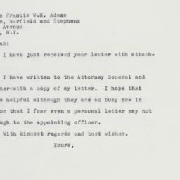 Letter : 1961 January 24