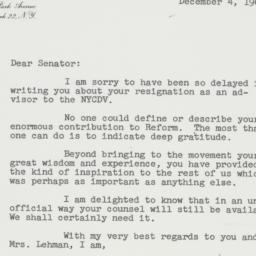 Letter : 1961 December 4
