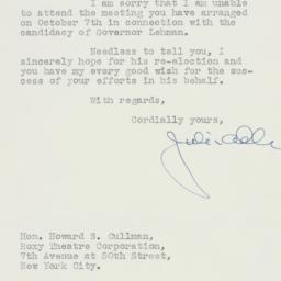 Letter: 1936 October 1