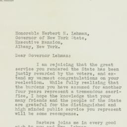 Letter: 1938 November 11