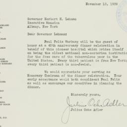 Letter: 1939 November 13