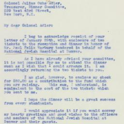 Letter : 1940 January 30