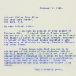 Letter: 1940 February 8
