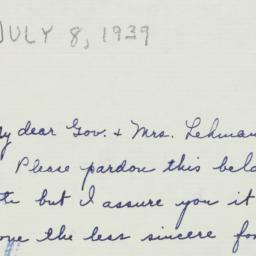 Letter : 1939 July 8