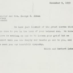 Letter: 1959 December 9