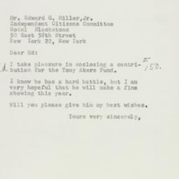 Letter : 1954 October 15