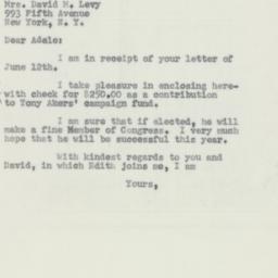 Letter : 1956 June 15