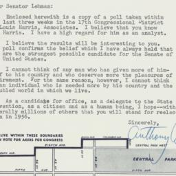 Letter: 1956 August 17