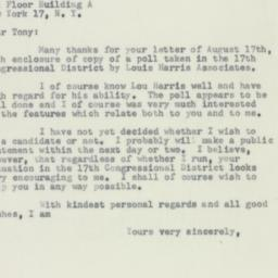 Letter: 1956 August 20