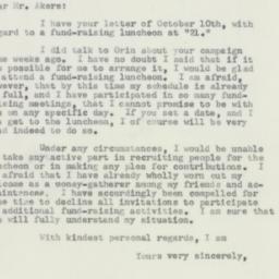 Letter : 1956 October 11