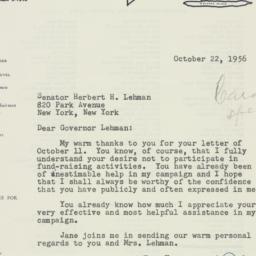 Letter: 1956 October 22