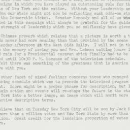 Letter: 1960 November 6