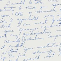 Letter: 1960 November 11