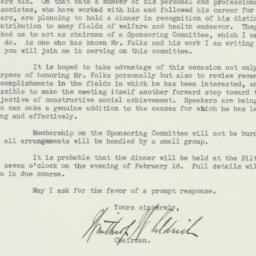 Letter: 1937 January 15