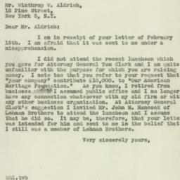 Letter: 1947 February 18