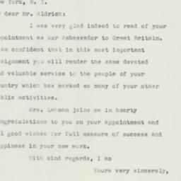 Letter: 1952 December 2